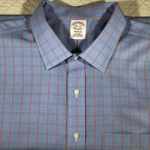 Brooks Brothers Madison Plaid Dress Shirt 18½-34